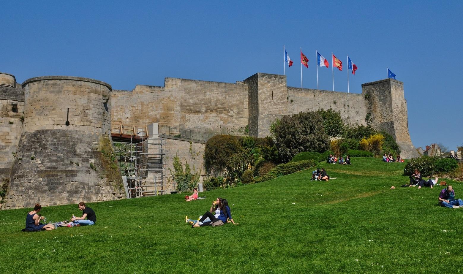 castle of Caen in Normandie