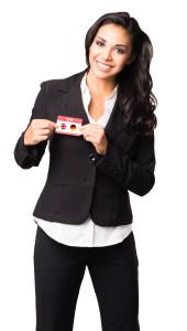 Businesswoman on White