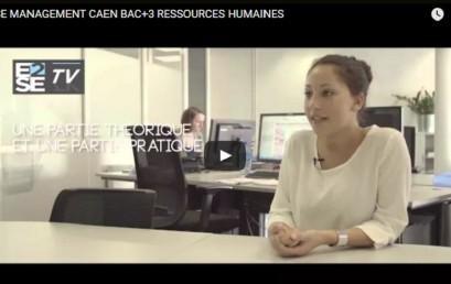 E2SE MANAGEMENT CAEN BAC+3 CHARGÉ DE GESTION DES RESSOURCES HUMAINES