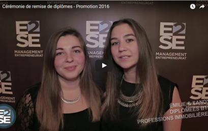 Cérémonie de remise de diplômes – Promotion 2016