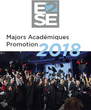Nos Majors Académiques 2018 sont …