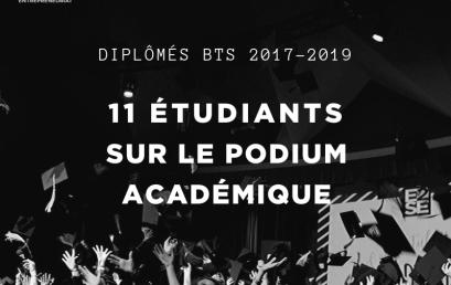 11 étudiants sur le podium académique ! Félicitations !