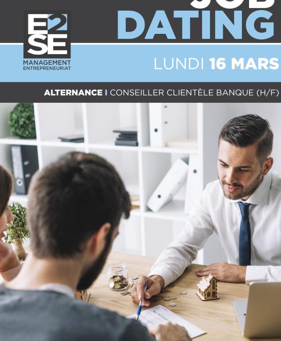 Job Dating – 16 Mars – Devenez Conseiller Clientèle en Banque  (H/F)