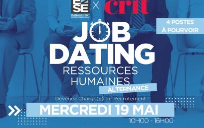 JOB DATING | ALTERNANCE EN RESSOURCES HUMAINES – 19 MAI 2021