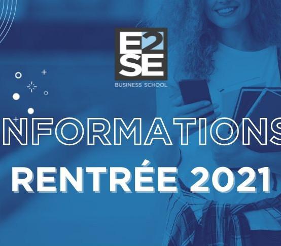 INFORMATIONS | RENTRÉE 2021
